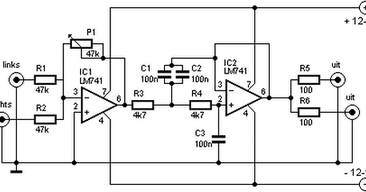 Subwoofer Filter And Low Pass Filter With Lm741 Circuit Diagram Blog