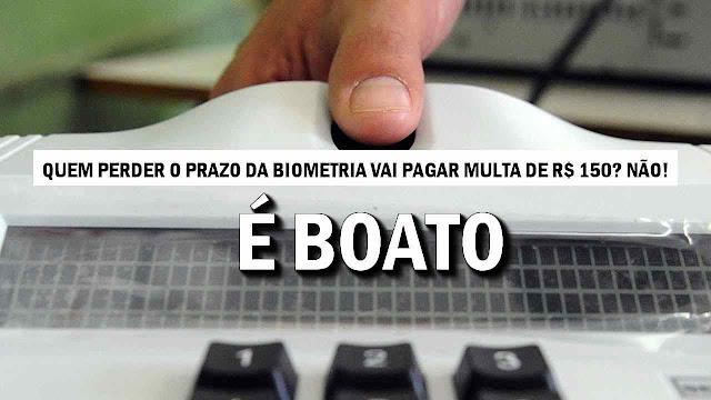 Eleitor que perder o prazo da biometria terá que pagar multa de R$150