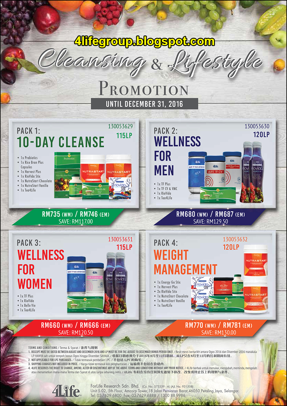 foto Cleansing & Lifestyle Promotion 2016 4Life Malaysia