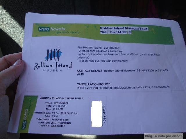 Vale a pena comprar ingressos antecipados para atrações e tours? ingresso para Robben Island