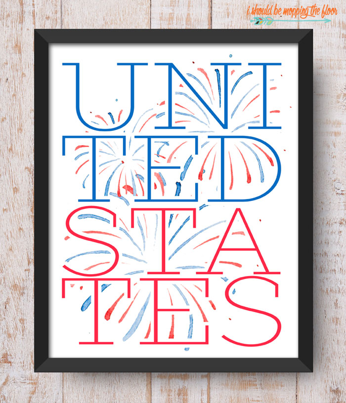 United States Printable