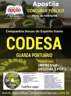 Apostila Concurso Companhia Docas do Espirito Santo - CODESA ES Guarda Portuário (Porto de Vitória).