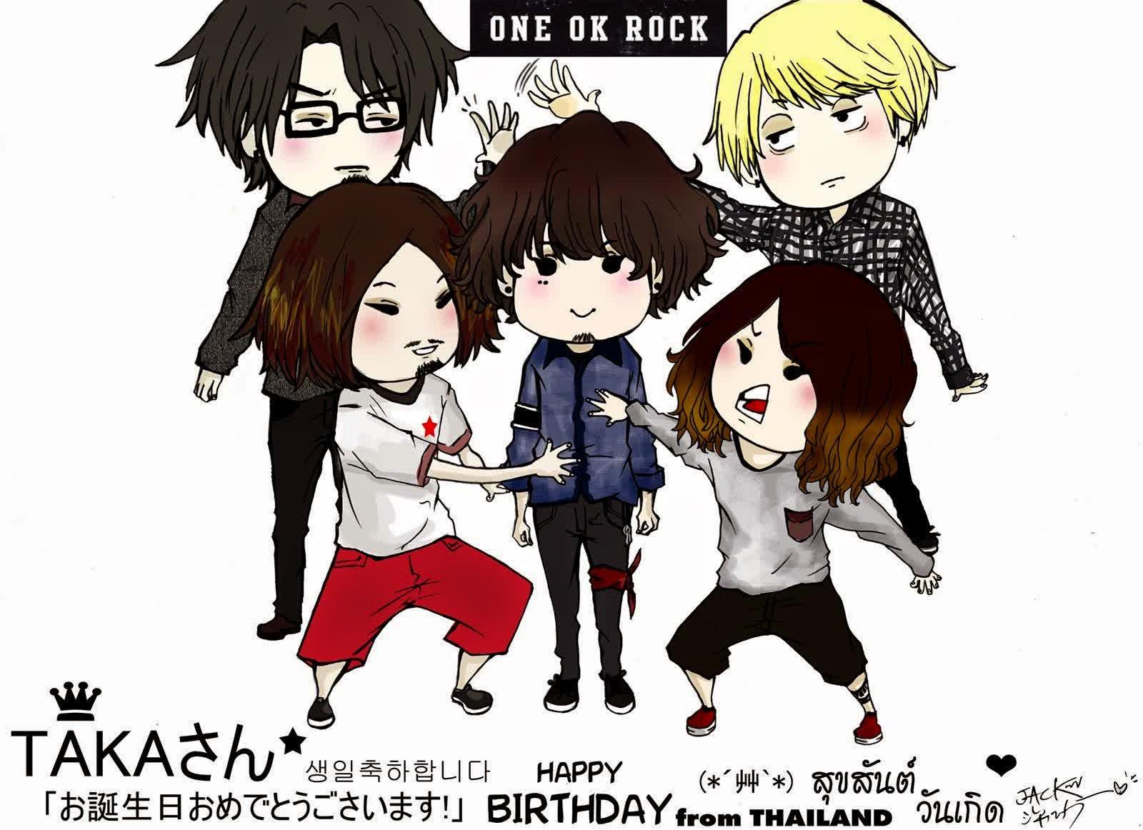 Koleksi Gambar Kartun ONE OK ROCK Kilas Dunia