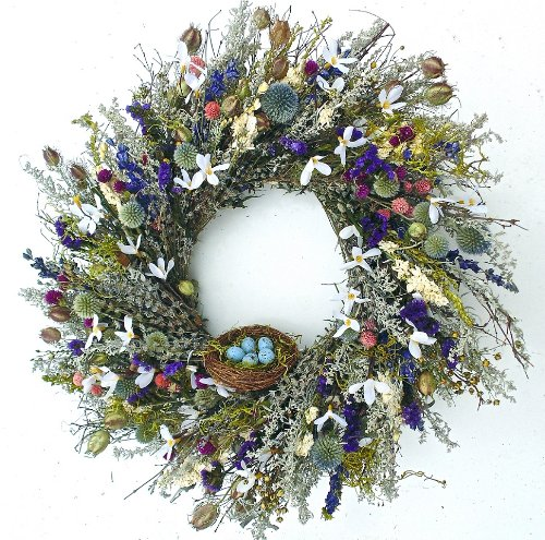 Robins Paradise Wreath with Nest