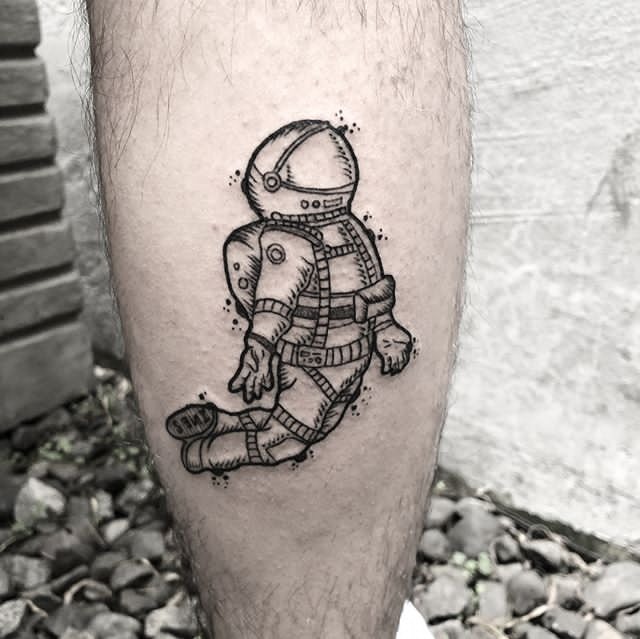 astronaut tattoo ideas for men