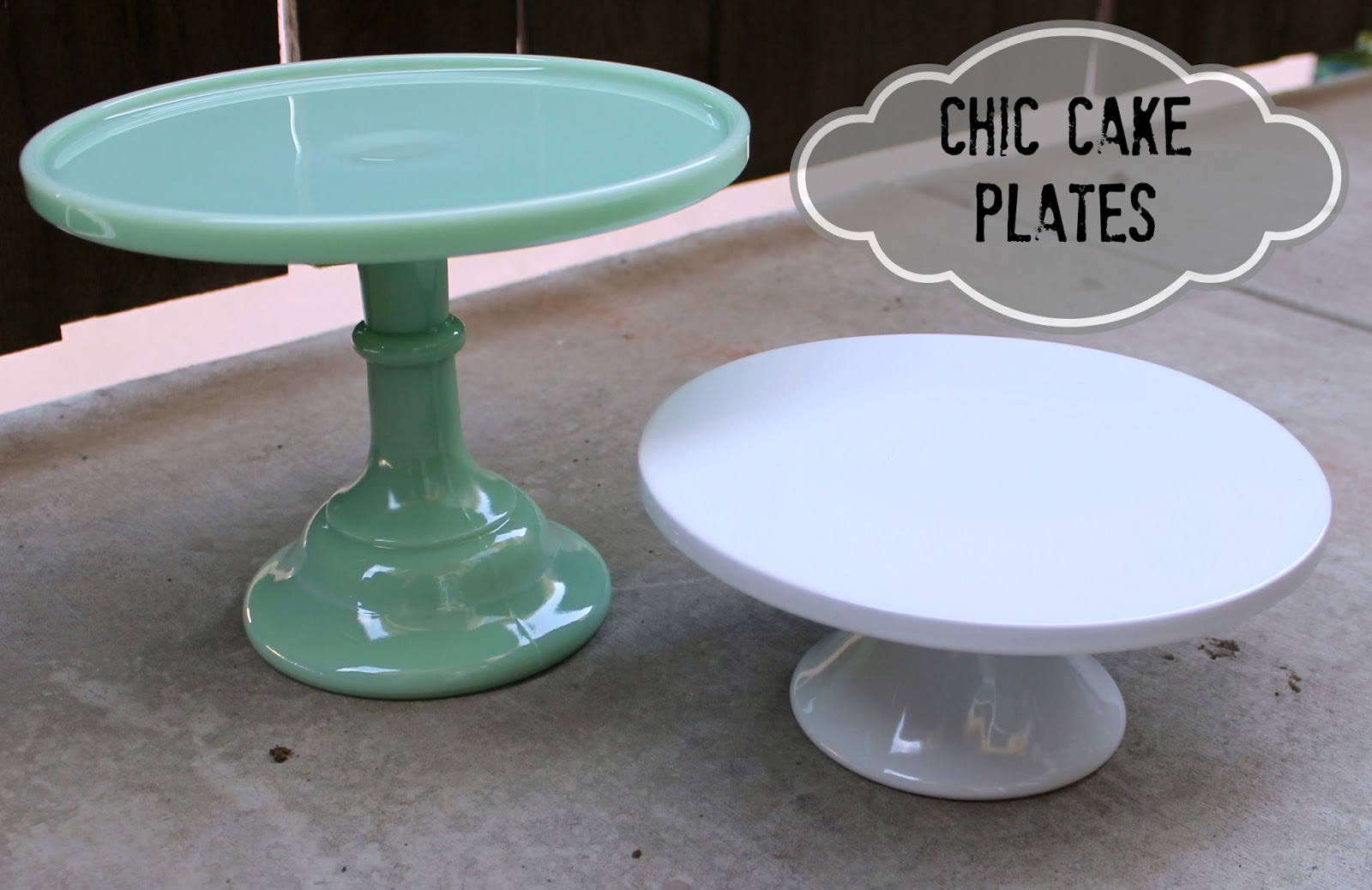 White Cake Plate Stand. Fusionbrands Serve It Up Plate ...