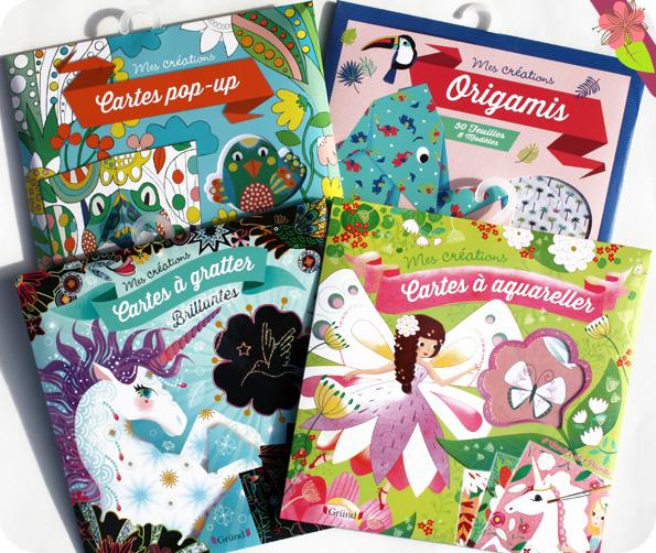 Pochettes Mes créations- cartes à gratter - cartes à aquareller - pop-up - origami - Gründ
