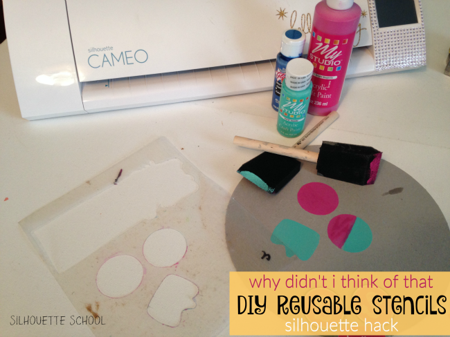 diy reusable stencils with silhouette the i bet you didn t think of