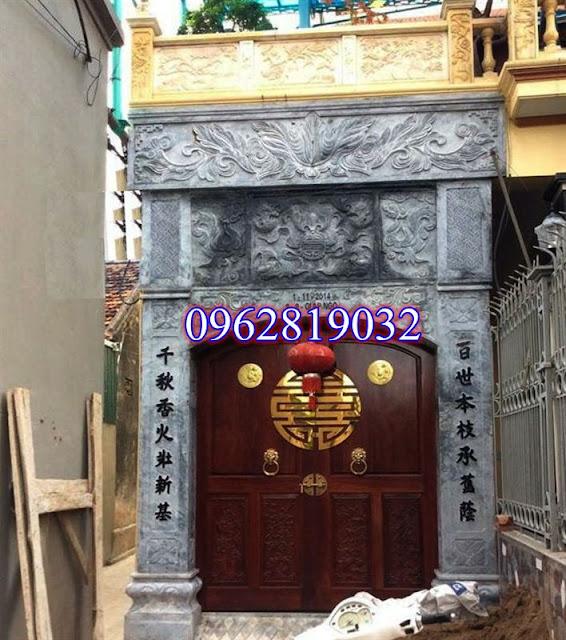 mẫu cổng bằng đá xanh đẹp