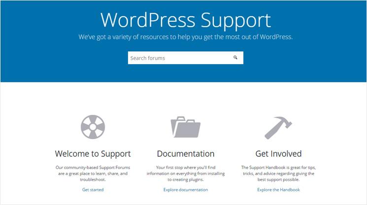 Dukungan WordPress
