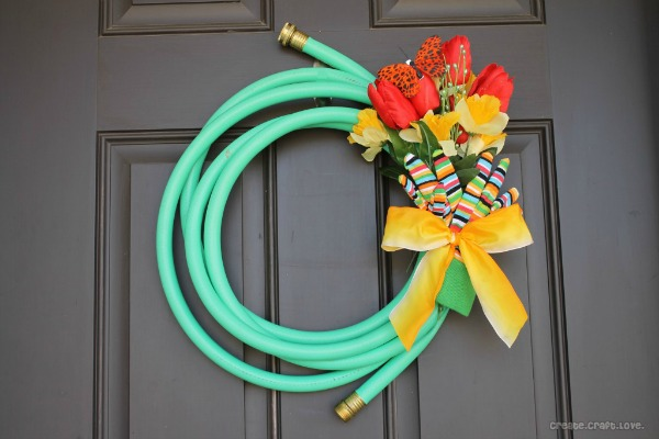 Garden Hose Spring Wreath from Create Craft Love