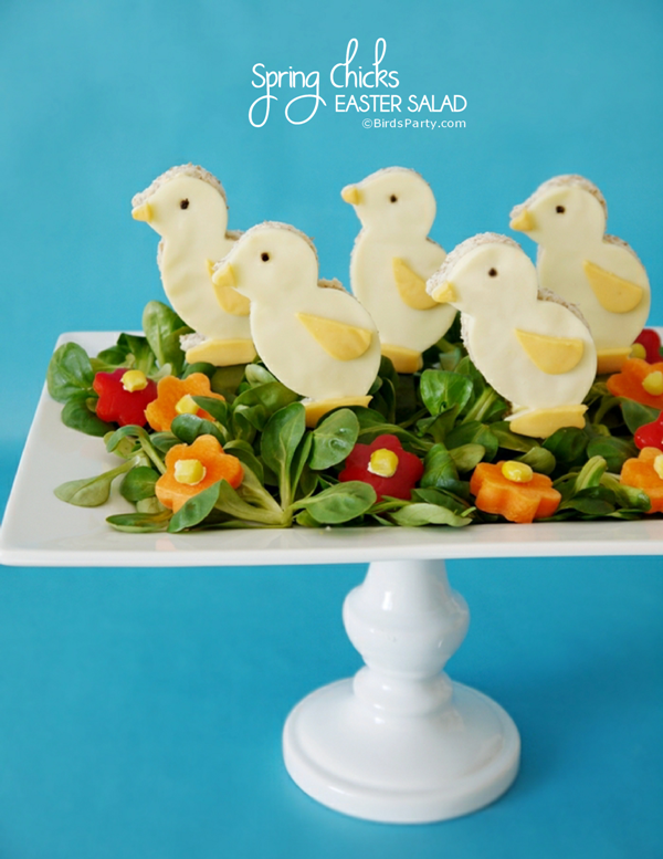 Easter Chick Brunch Salad Recipe - BirdsParty.com