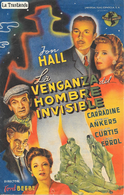 Programa de Cine - La Venganza del Hombre Invisible - Jon Hall - Evelyn Ankers