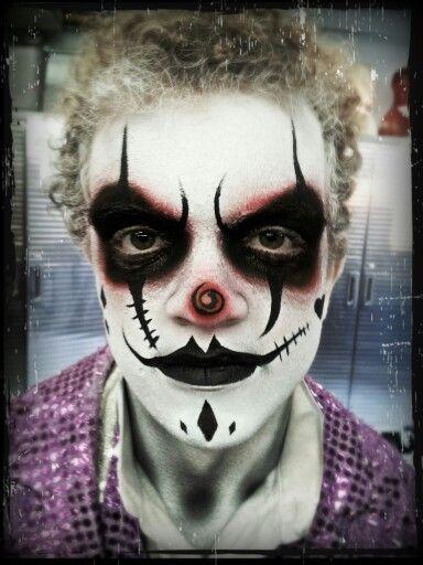 maquiagem de palhaço halloween masculina facil