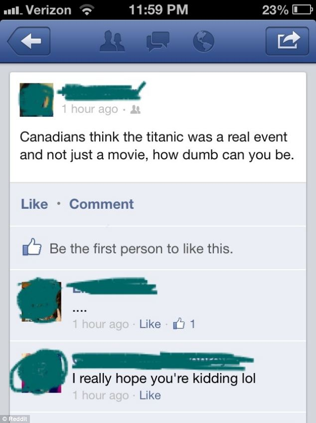 Some buffoon on Facebook thinks Titanic was not a historic event