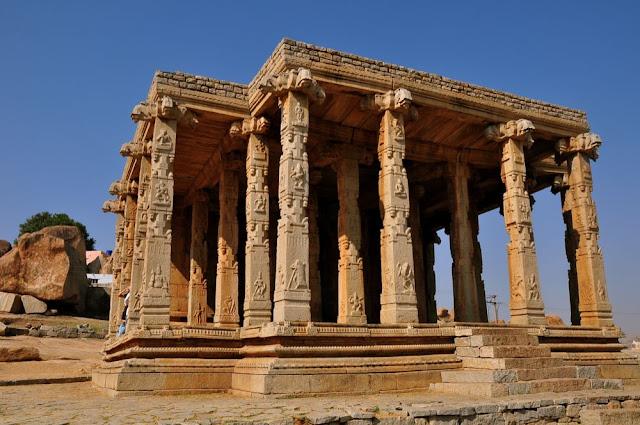 Kadale Kallu Ganesha Ancient Indian temple architecture -Hampi Pick, Pack, Go