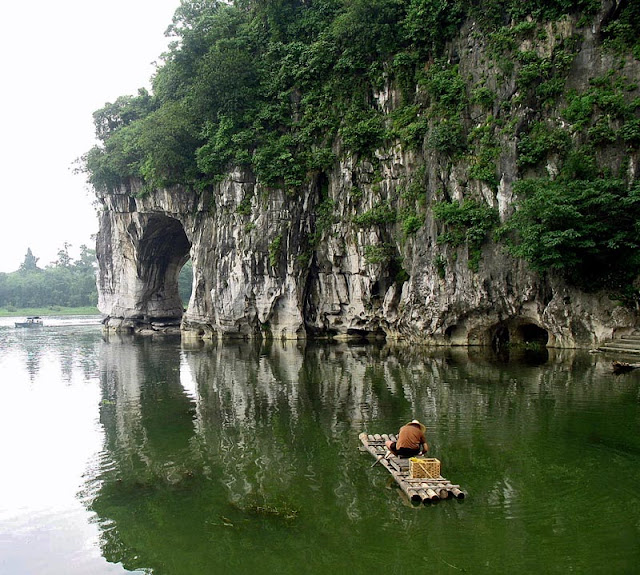 Elephant Rock on Li River in Guilin China