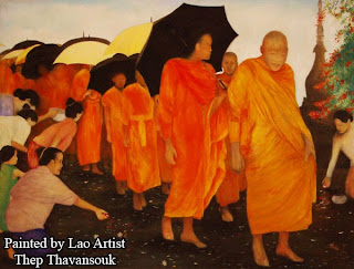 Lao artist profile - paintings by Thep Thavansouk