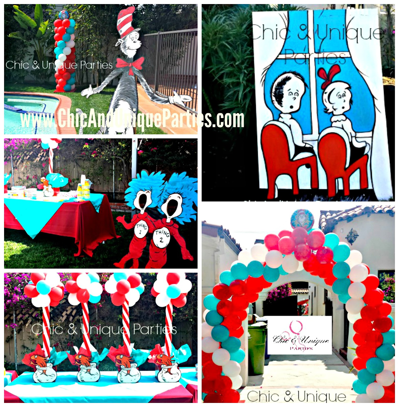 Chic And Unique Parties Cat In The Hat 2nd Birthday