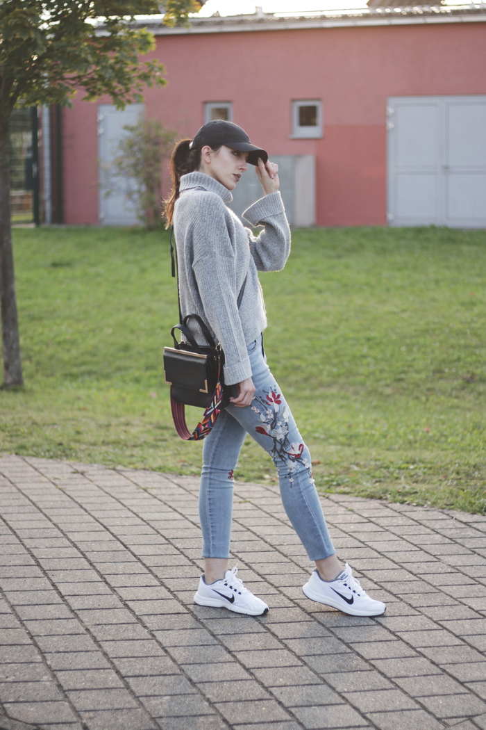 weiße nike sneaker outfit