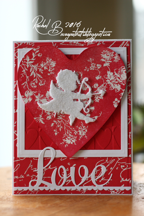 Scrapatout - Handmade card, Valentine, Heart, Cupid, Impression Obsession