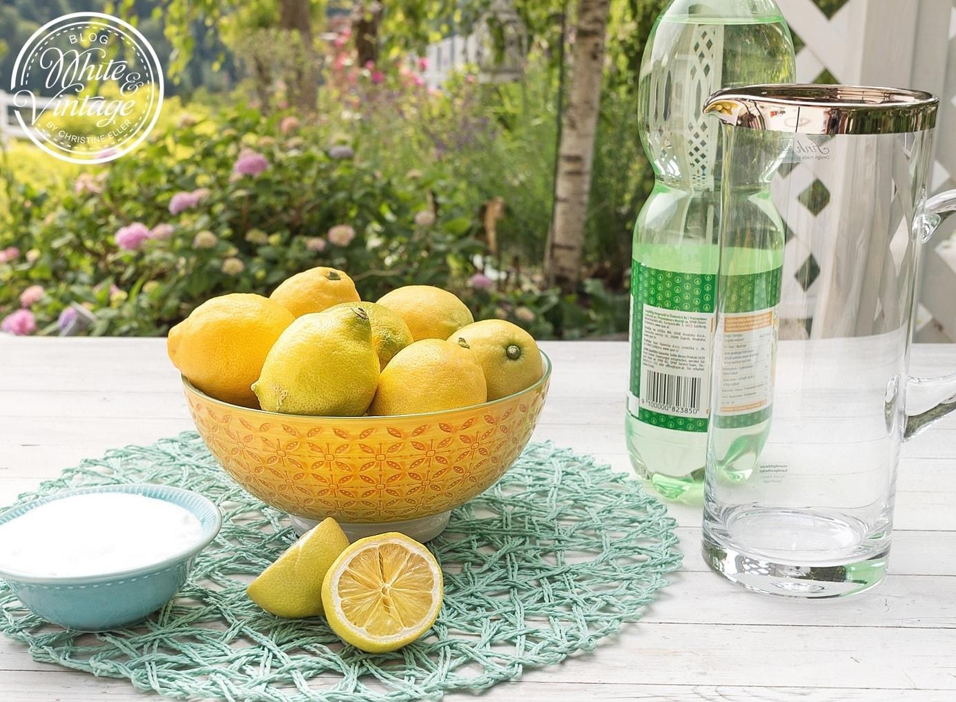 Rezept: Limonade selber machen.