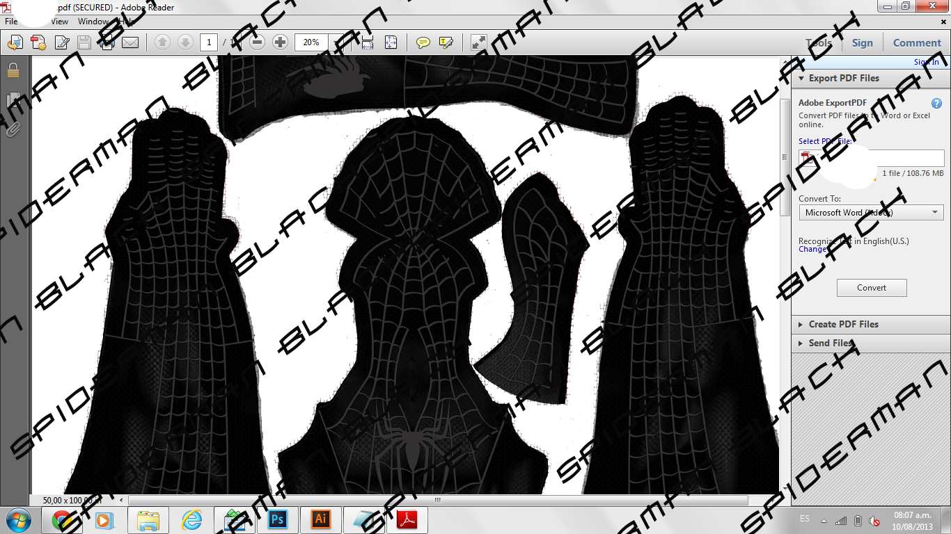 Spiderman costumes the costume have brick texture as the movie and cobwebs in 3d remember that you can edit the size with photoshop jeuxipadfo Images