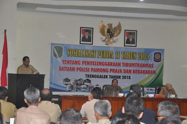 Plt. Sekda Drs. Kusprigianto, MM, Buka Sosialisasi Perda Nomor 11 Tahun 2015