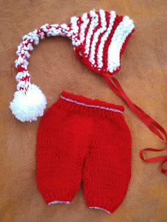 conjunto de calça e gorro tricotados  para fotografias newborn