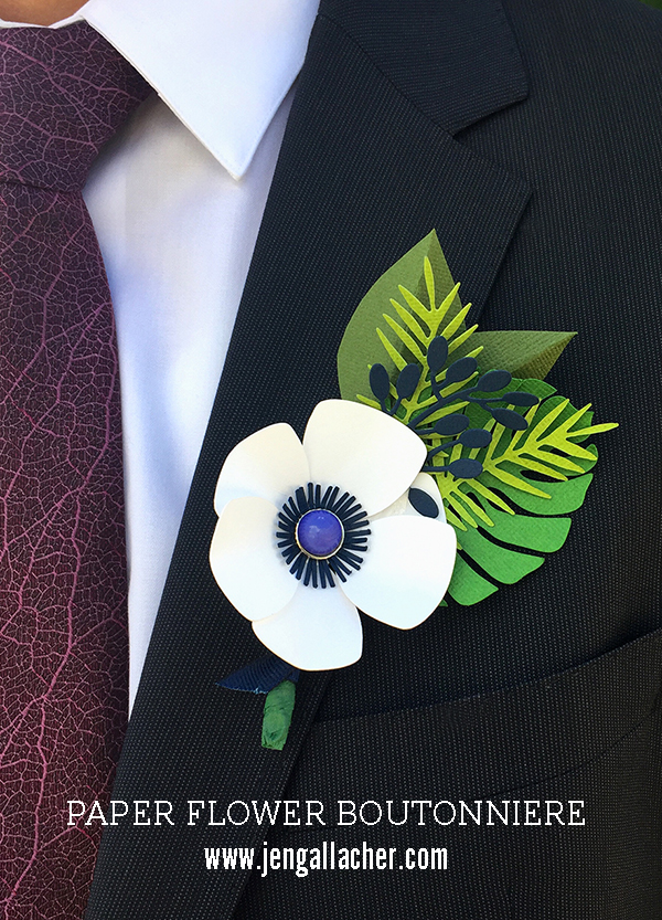 Father's Day Paper Boutonniere by Jen  Gallacher for www.jengallacher.com #fathersday #jengallacher #paperboutonniere