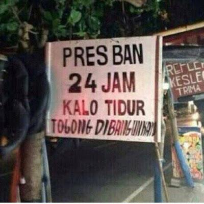 Banner Promosi Spesialis Tambal Ban dan Pres Ban