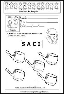 Folclore, estudando a palavra saci