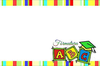 Formatura Do Abc Kit Completo Com Molduras Para Convites Rótulos