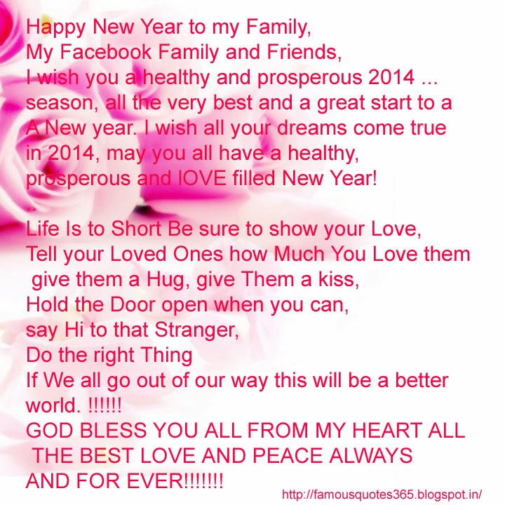 Best Happy New Year Quotes For Friends: Quotes For All: Happy New Year My Facebook Friend And Family