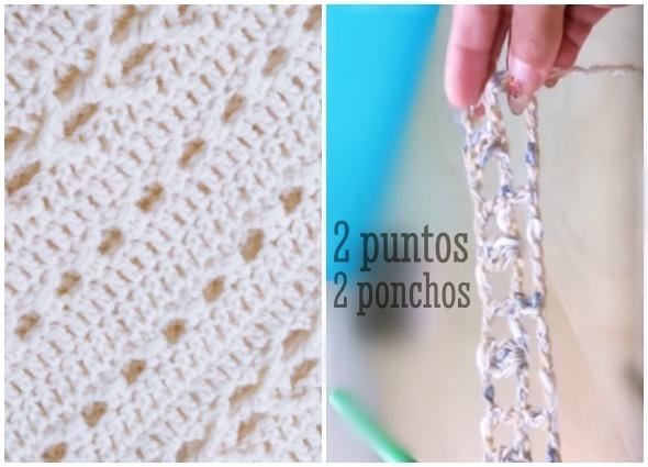 ponchos rectos, ponchos crochet, tutoriales, vídeos