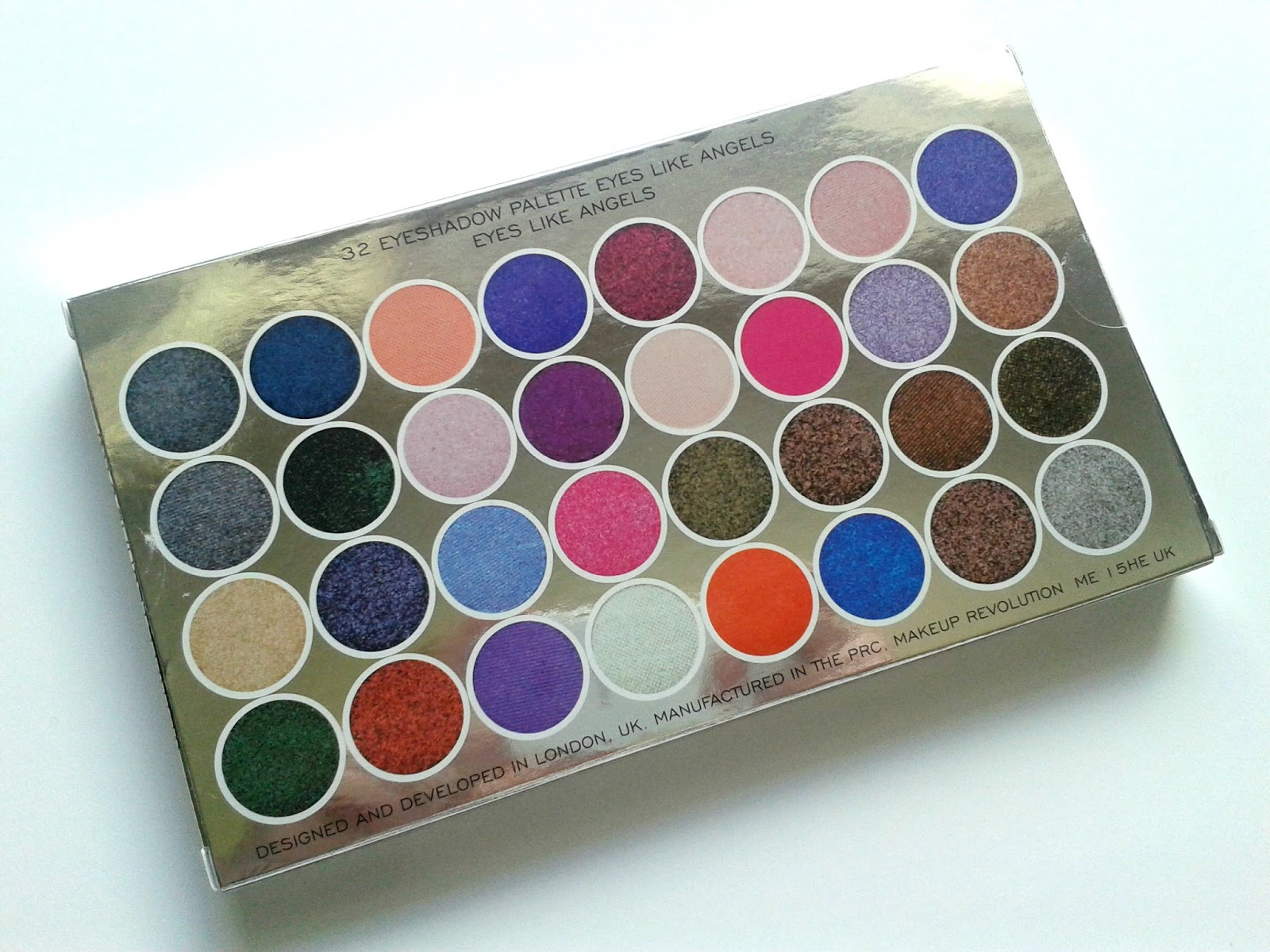 Makeup Revolution Eyes Like Angels Ultra 32 Shade Eyeshadow Palette Shades Box Beauty Review