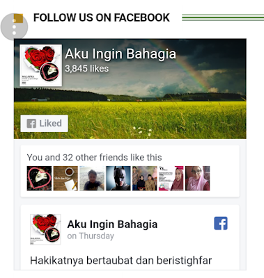 Jom Follow & Like FB Page Aku Ingin Bahagia