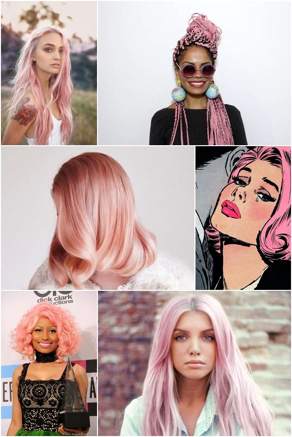 A Cor do Ano 2016: Rose Quartz Rosa Pantone Cabelo Pink