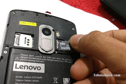 Cara menyiapkan penyimpanan eksternal di lenovo k4 note (a7010) tanpa menghapus data dari memory card