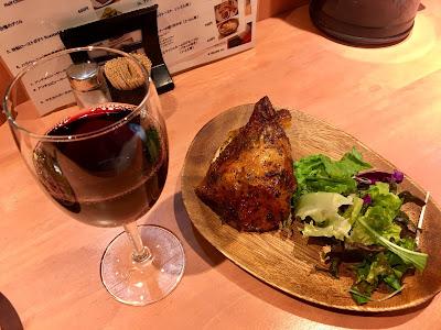 ファーマーズチキンの赤ワインとチキン