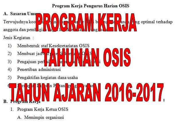 Download Program Kerja Tahunan OSIS SMP dan SMA Lengkap untuk Tahun Ajaran 2016-2017 Format Microsoft Word