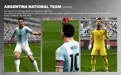 PES 2013 Argentina New Home Kit 2016 + GK [Update] by Codiletser