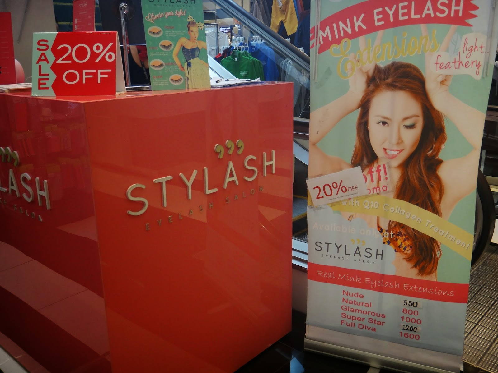 4e4870f46a4 STYLASH is located inside Landmark Makati, ground floor, right next to the  escalator. There was a small area underneath the escalator that they turned  into ...
