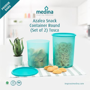 Azalea Snack Container Round Set (Set Of 2) Tosca