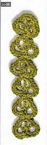 Patrón #1503: Encaje a Crochet
