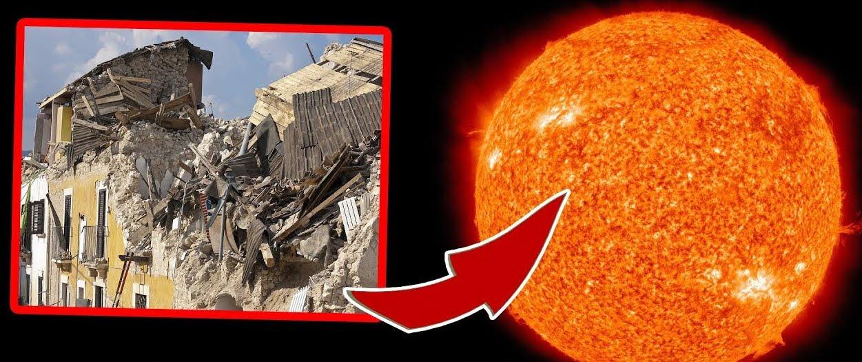 Cosa c'entrano i Terremoti con le Eruzioni Solari.