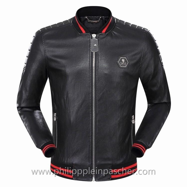 Veste Crane Noir Pour Leather Plein Philipp HommePhilipppleinpascher lKTF1Jc