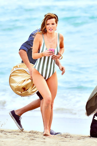 Bella Thorne – Swimsuit Photoshoot Candids in Malibu