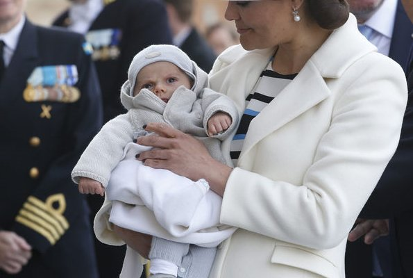 Officiating clergy at the christening of Prince Oscar. Crown Princess Victoria, Princess Sofia- princess Estelle, Princess Madeleine, princess Leonore