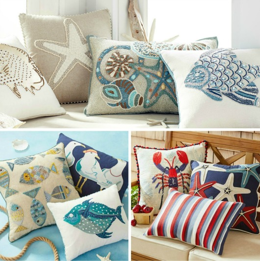 Coastal Pillow Collections at Pier 1